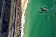 Aerial view of the Port Kembla wave power generator