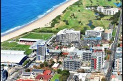 Aerial view of Wollongong Crown Apartments completed