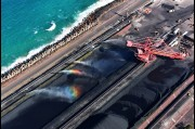 Aerial view of the Outer Harbour, Coal Terminal, Port Kembla