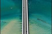 Aerial view of Windang Bridge over Lake Illawarra
