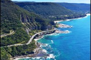 Aerial view of Sea Cliff Bridge, Northern Illawarra