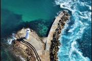 Aerial view of the old Wollongong lighthouse