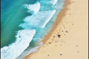 Aerial view of City beach Wollongong