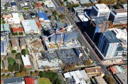 Aerial view of a Wollongong construction site