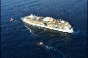 Aerial view of the Radiance of the Seas off Wollongong