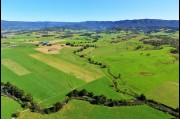 Aerial view of Albion Park countryside