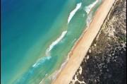 Aerial view of Port Kembla beach