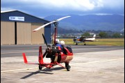 Gyrocopter used for aerial photography