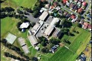 Aerial view of Oak Flats high school