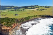Aerial view of a gyrocopter at Gerringong