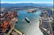 Aerial view of Port Kembla Harbour