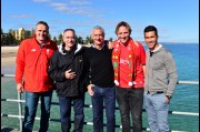 In Adelaide with Liverpool FC legends: Didi Hamaan, Craig Johnston, Ian Rush and Luis Garcia