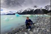 At Tasman Glacier, New Zealand