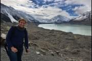 At the Tasman Glacier, New Zealand
