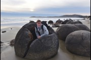 At the Moeraki Boulders, New Zealand