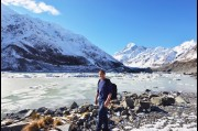 At Mount Cook, New Zealand