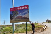 At the New South Wales and South Australia border