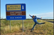 At the New South Wales and Queensland border