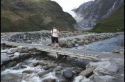 At Franz Josef Glacier, New Zealand