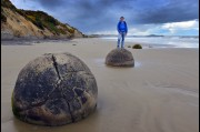 At the Moeraki Boulders, New Zealand
