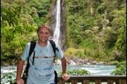 At Thunder Creek Falls, New Zealand