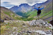 Hiking in the Chugach Mountains, Alaska