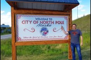 At the North Pole near Fairbanks, Alaska