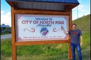 At the North Pole near Fairbanks, Alaska