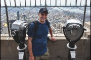 On top of the Empire State Building in New York