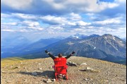 On top of Whistler Mountain in the Jasper National Park