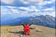 On top of Whistler Mountain in the Jasper National Park