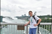 On the border of the USA and Canada at Niagara