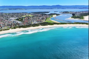 Warilla Beach and Lake Illawarra