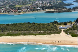 Windang Beach and Lake Illawarra
