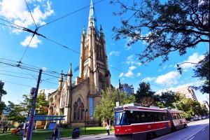 Church and Tram