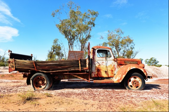 A Rusty Old Truck