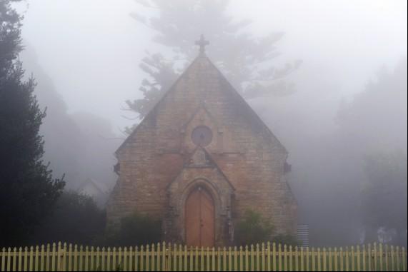 A Church in the Fog